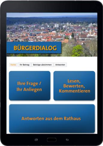 Tablet Bürgerdialog