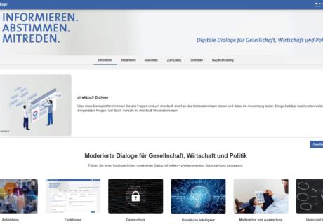 direktzu® bietet digitale Dialoge für Gesellschaft, Wirtschaft und Politik.